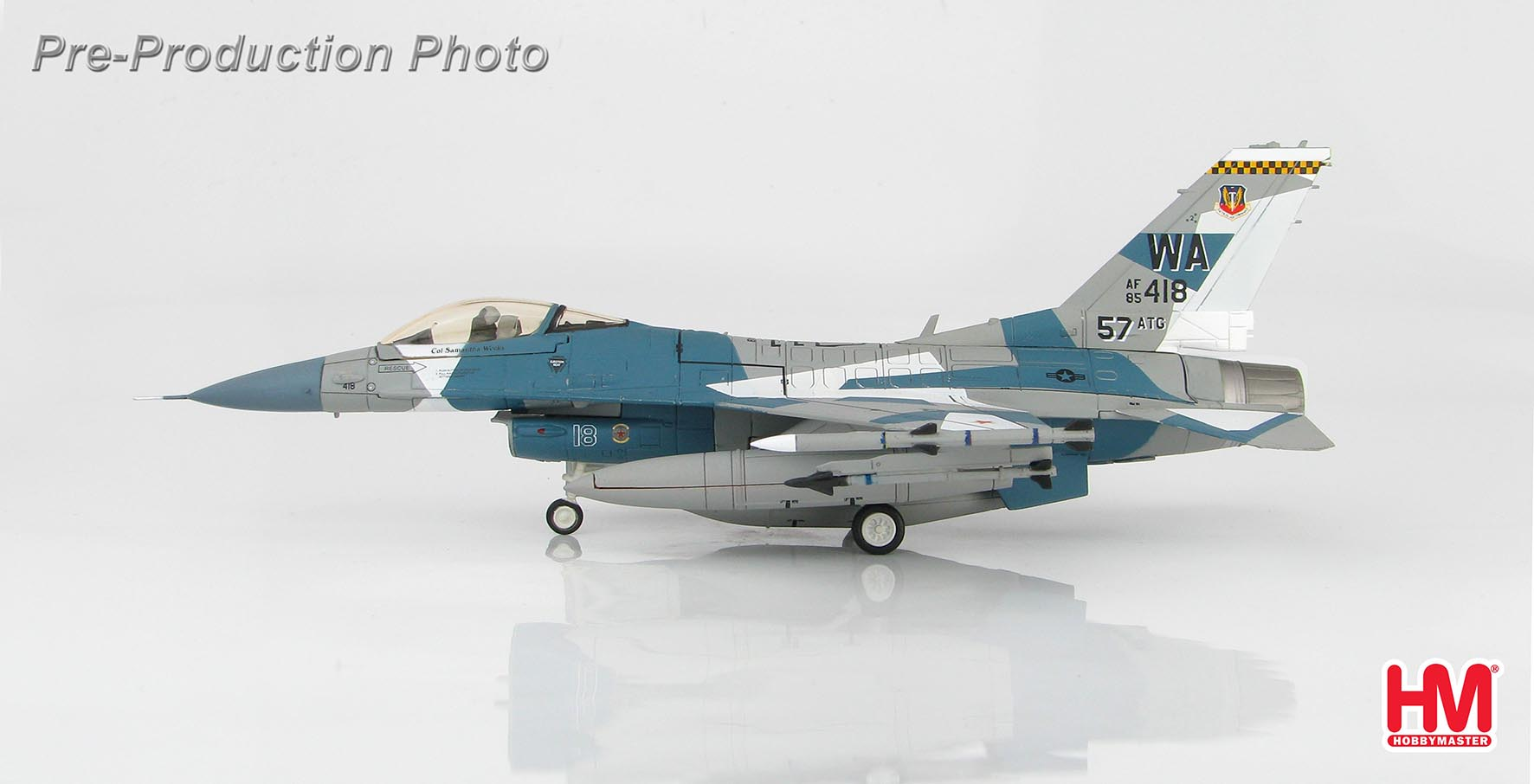 F-16C Fighting Falcon, 85-0418, 57th Wing, 64th Aggressor Sqn., Nellis AFB, Sept 2016 (1:72) - Preorder item, order now for future delivery