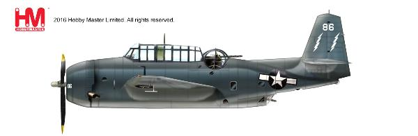 TBM-3 Avenger White 86 of VC-88, USS Saginaw Bay, March 1945 (1:72) - Preorder item, order now for future delivery
