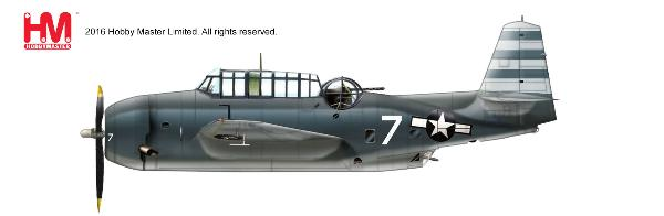 "TBM-3 Avenger ""Take Force 58"" , White 7 of VT-12, USS Randolph, ca. 1945 (1:72) - Preorder item, order now for future delivery"