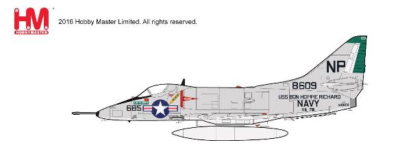 A-4C Skyhawk, MIG-17 Killer, VA-76, USS Bon Homme Richard, 1967 (1:72) - Preorder item, order now for future delivery