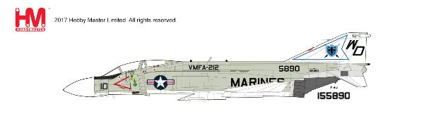 F-4J Phantom, VMFA-212, USMC, circa 1970s (1:72)  - Preorder item, order now for future delivery