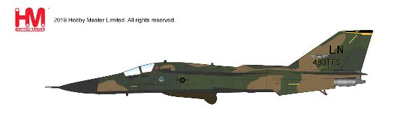 F-111F Aardvark 493rd TFS CO, 1991 (1:72) - Preorder item, order now for future delivery