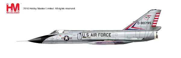 F-106A Delta Dart, 0-80795, Air Defence Weapons Center, Tyndall AFB, Florida (1:72) - Preorder item, order now for future delivery