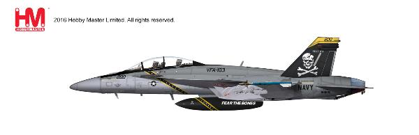 "F/A-18F 166620, VFA-103, ""Jolly Rogers,"" USS Eisenhower 2012 (1:72)  - Preorder item, order now for future delivery"