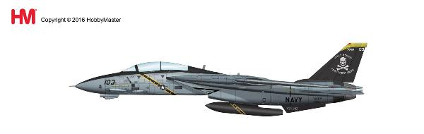 "F-14B Tomcat, CO Aircraft (AA103), VF-103 ""Jolly Rogers"", USS J.F. Kennedy 2004 Last Flight (1:72) - Preorder item, order now for future delivery"