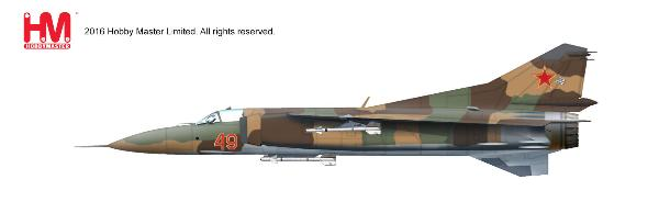 MIG-23MS Flogger, Red 49, 4477th Test and Evaluation Sqn., Tonopah Test Range Airfield, USAF, 1980s (1:72) - Preorder item, order now for future delivery