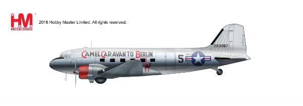"USAF C-47A ""Camel Caravan to Berlin"", 86th Transport Squadron, 1948 (1:200) - Preorder item, order now for future delivery"