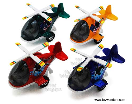 "Air Whale Helicopters (5"" diecast model, Assorted Colors.)"