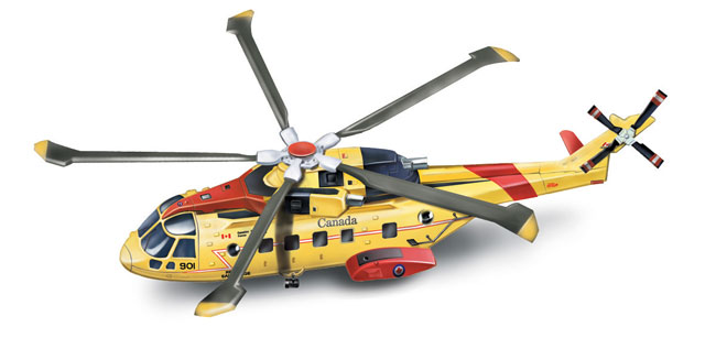 Agusta EH 101 Canadian Search and Rescue Helicopter (1:72)