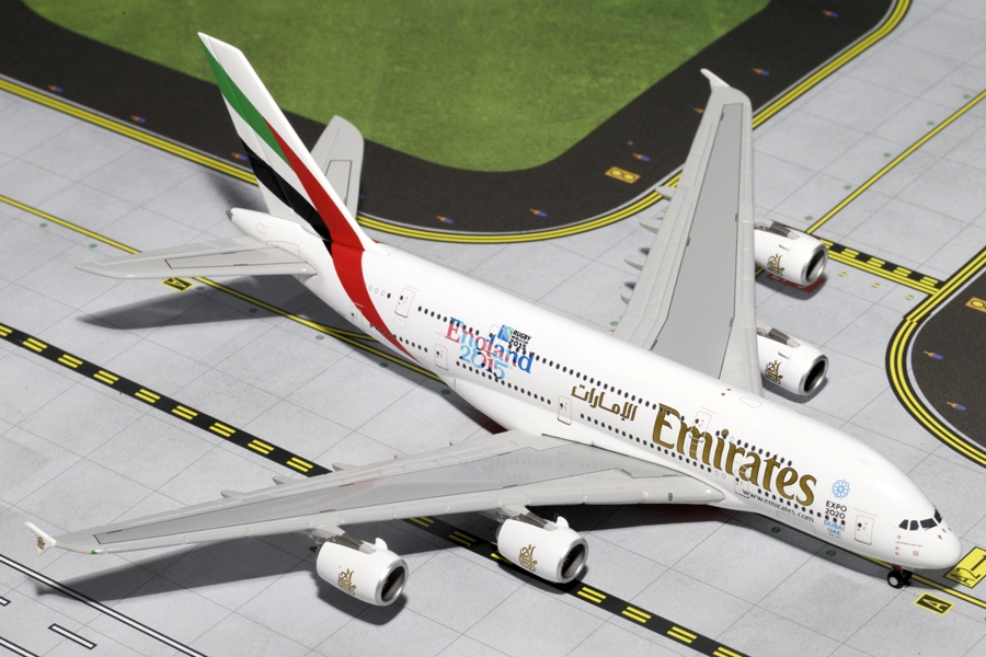 "Emirates A380-800 ""England Rugby World Cup 2015"" A6-EEN (1:400) - Preorder item, order now for future delivery"