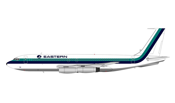 Eastern Air Lines 720-025 N8710E with stand, Polished (1:200)