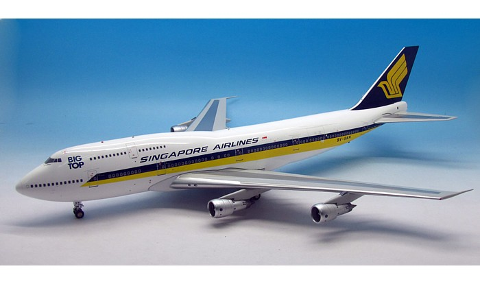 Singapore Airlines 747-312M BIG TOP 9V-SKN with stand (1:200)