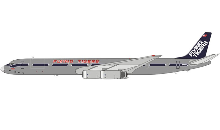 Flying Tigers DC-8-63 ~N790FT, Polished Finish (1:200)