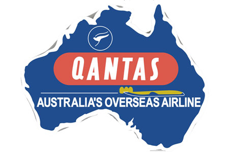 Qantas Retro Patch (Iron on)