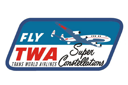 TWA Constellation Patch (Iron on)