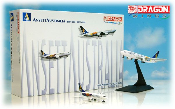 "Ansett 767-300 and 737-300 Set ""Sydney Olympics 2000"" (1:400)"