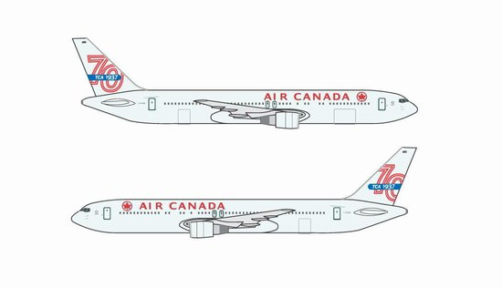 Air Canada 767-300 70th Anniversary (1:400)