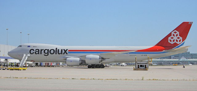 Cargolux 747-8F (1:200) With Gear, City Of Esch Sur Alzette