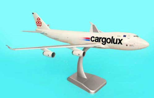 Cargolux 747-8F (1:200) With Gear, City Of Luxembourg