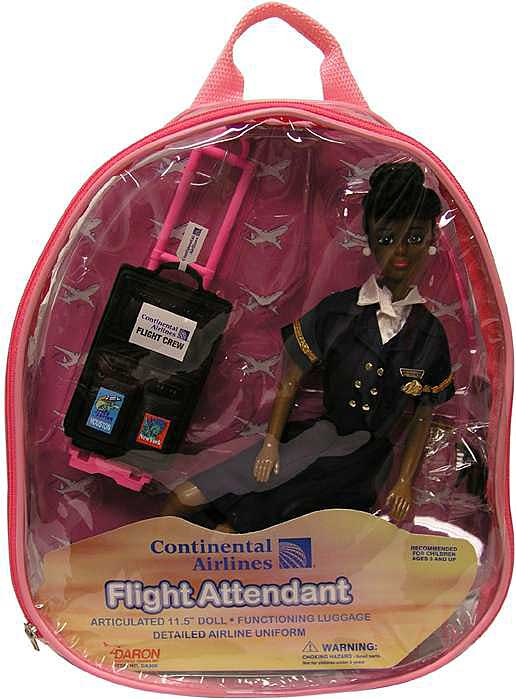 Continental Flight Attendant Doll