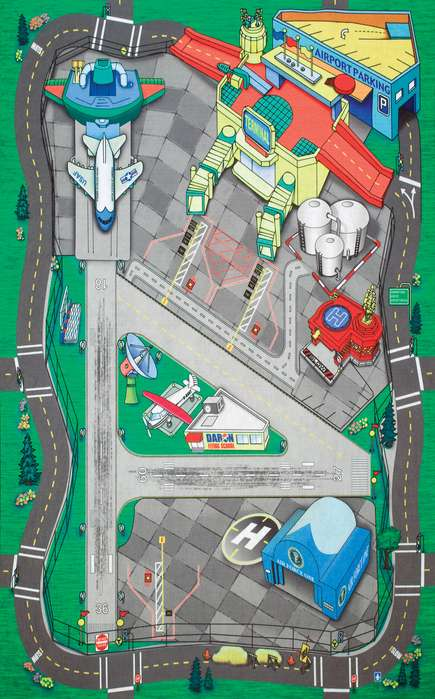 Large Airport Playmat 41 1/4 X 31 1/2 Inches