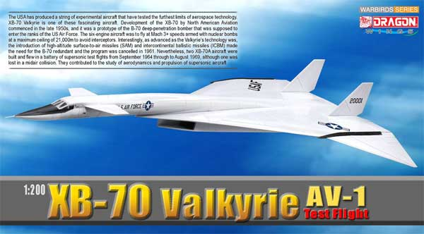XB-70 Valkyrie AV-1 Test Flight, Edwards AFB (1:200)