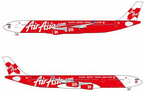 "Air Asia A340-300 ""Capa Best New Airline"" ~ 9M-XAB (1:400)"
