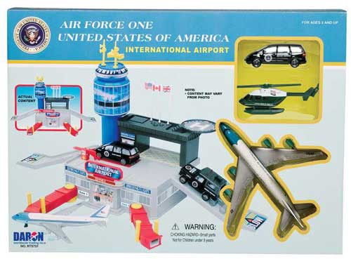 Air Force One Airport Playset W/2 Vehicles & Airport Bldg