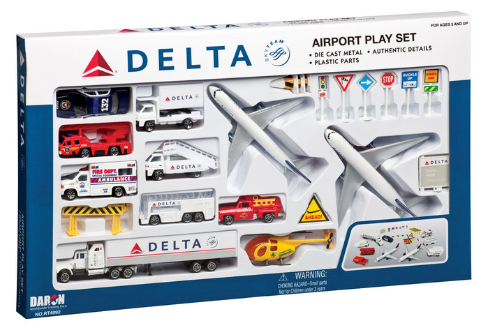 Delta 30 Pc Airport Play Set