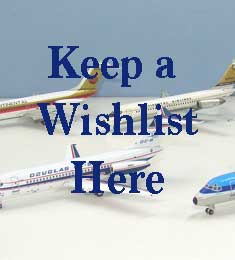Diecast Airplane Wish List