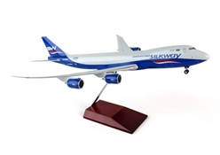 Silkway West 747-8F (1:200) With Wood Stand & Gear 4K-SW881 by Hogan Wings Collectible Airliner Models item number: HG0120G