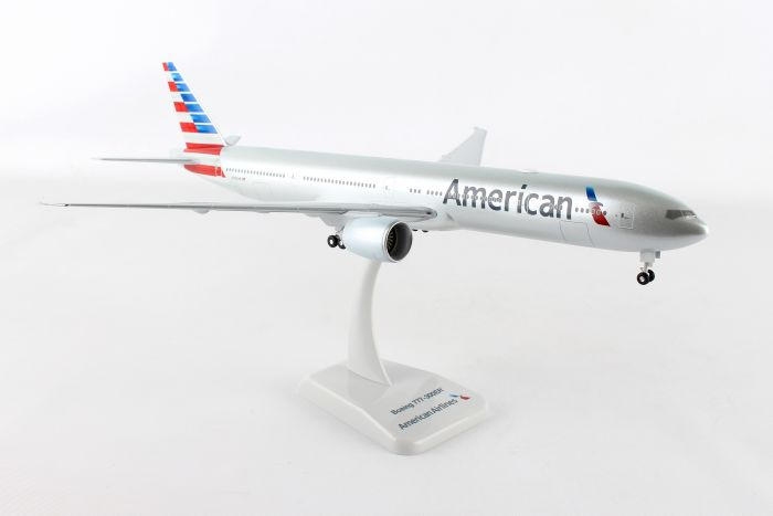 American 777-300 N725AN with Radome (1:200) by Hogan Wings Collectible Airliner Models item number: HG10512G