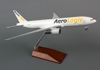 AeroLogic 777-200F (1:200) with wood Stand and Gear by Hogan Wings Collectible Airliner Models item number: HGLS10