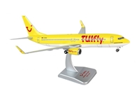 Tulfly 737-800 (1:200) with Gear, Registration: D-ATUG Yellow by Hogan Wings Collectible Airliner Models item number: HGTF03