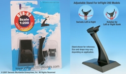 DC-8 Display stand (1:200), InFlight 200 Scale Diecast Airliners Item Number IFSDC8
