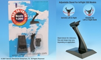 DC-9 Display stand (1:200), InFlight 200 Scale Diecast Airliners Item Number IFSDC9