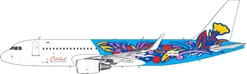 CitiLink Express A320-200 Sharklets Floral Retro Livery PK-GQI (1:400)