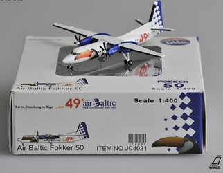 Air Baltic Fokker 50 (1:400) by JC Wings Diecast Airliners