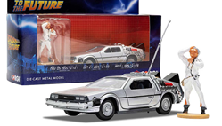 Back To The Future Delorean W/Doc Brown Figure 1/36
