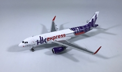 HK Express A320 Sharklets B-LCC (1:400) by JC Wings Diecast Airliners