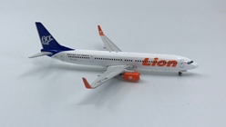 "Lion Air B737-900ER PK-LJO ""60TH"" (Blue Tail) ((1:400)), Phoenix (1:400) Scale Diecast Aircraft, Item Number PH4LNI784"