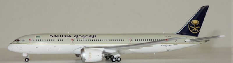 Saudi Arabian Airlines B787-9 HZ-ARA (1:400) by JC Wings Diecast Airliners