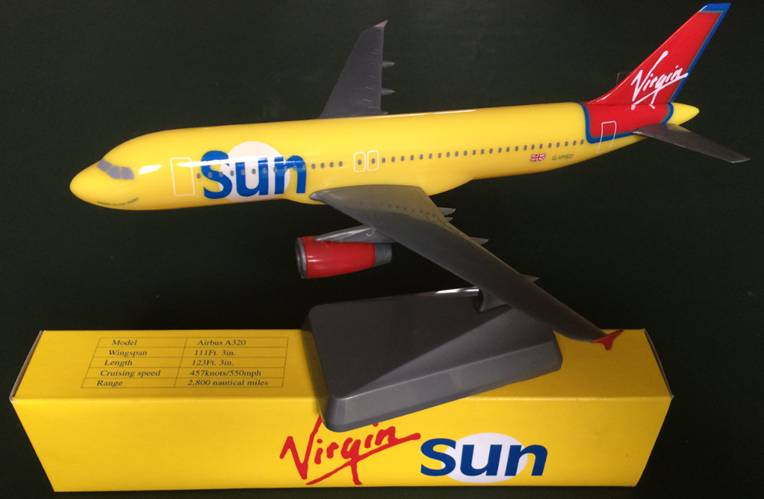 Virgin Sun A320-200 G-VMED (1:200), Flight Miniatures Snap-Fit Airliners Item Number WSTRVIRA320