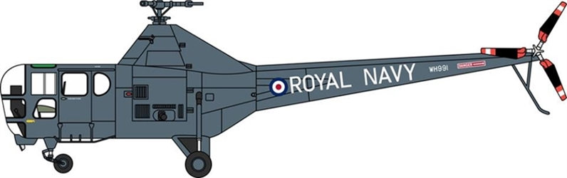 Westland Dragonfly HR.5 WH991, British Royal Navy, The Yorkshire Air Museum (1:72) by Oxford Diecast 1:72 Scale Models Item Number 72WD001