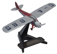 de Havilland DH.80 Puss Moth - King's Flight, G-ABBS (1:72), Oxford Diecast 1:72 Scale Models Item Number 72PM003
