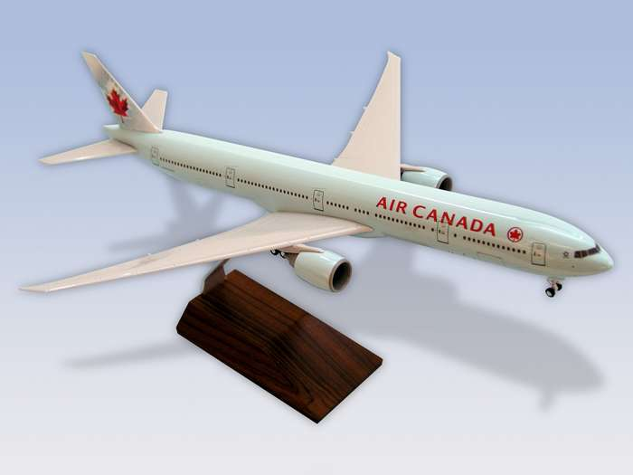 Air Canada B777-300ER (1:200) W/Gear & Wood Stand, SkyMarks Airliners Models Item Number SKR5004