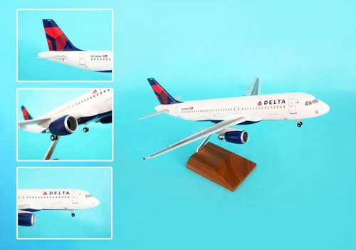 "Delta A320 ""New Livery"" (1:100) by Skymarks Supreme Desktop Aircraft Models item number: SKR8304"