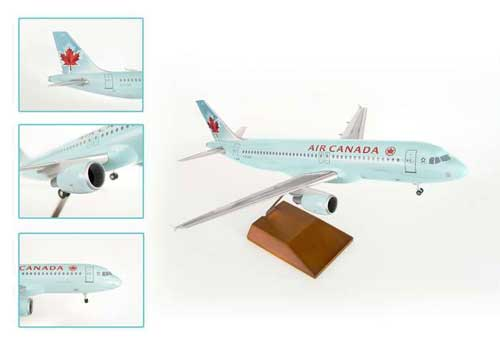 Air Canada A320 W/Wood Stand & Gear (1:100) by Skymarks Supreme Desktop Aircraft Models item number: SKR8307