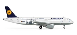 Lufthansa A320 100 Jahre Hamburg Airport (1:200), Herpa 1:200 Scale Diecast Airliners Item Number HE554350