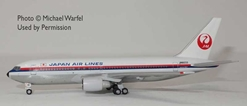Japan Air Lines 767-200 JA8233 (1:400) by AeroClassics Models Item Number: AC419442